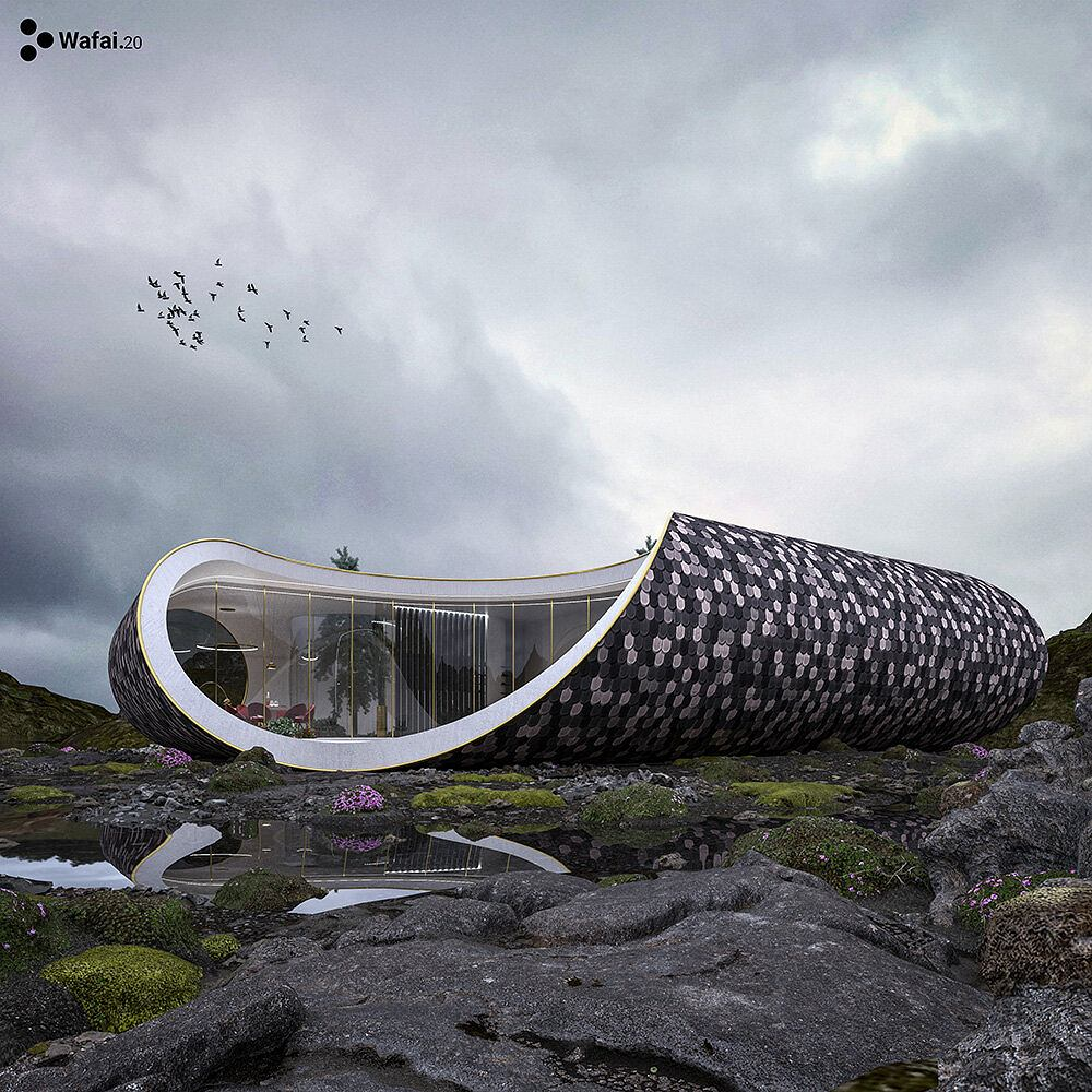 Niezwykły dom inspirowany muszlą