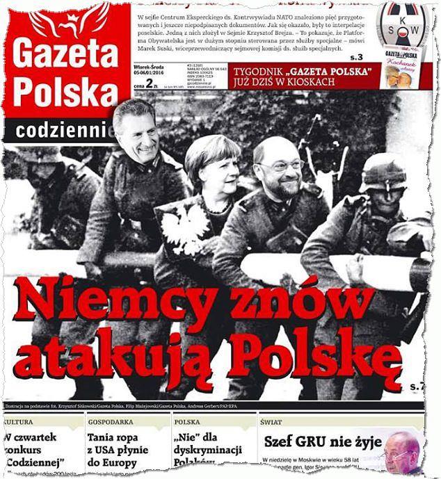 Okładka 'Gazety Polskiej Codziennie' ze stycznia 2016