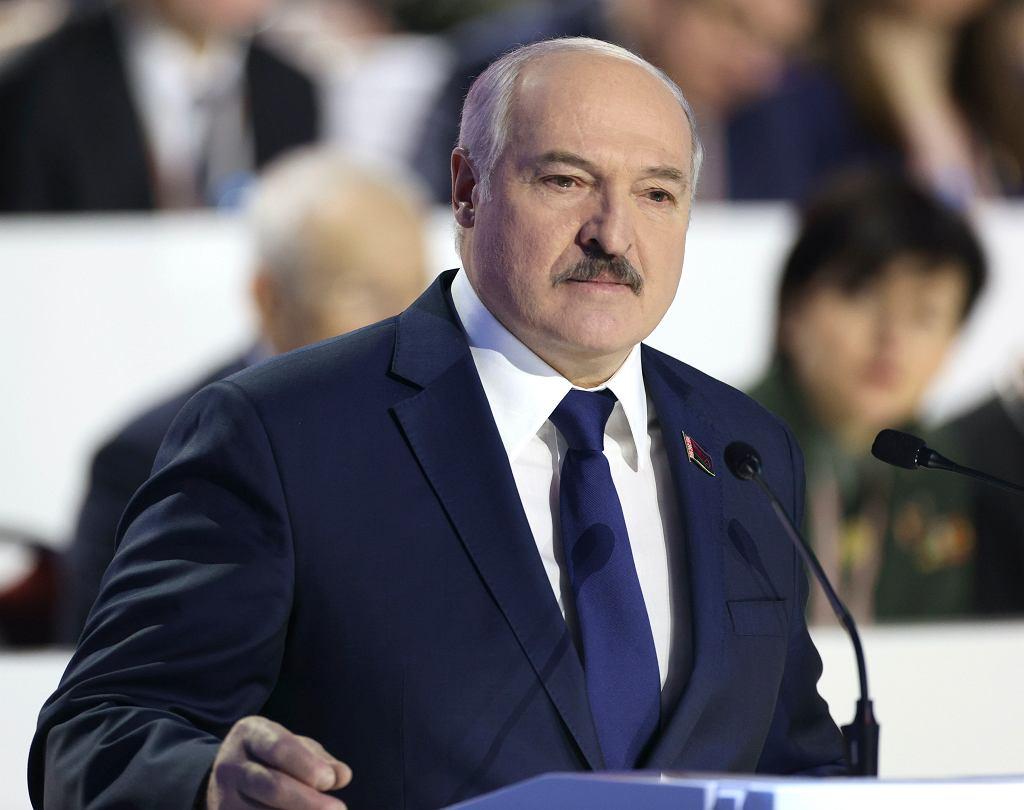 Satrapa Białorusi Aleksander Łukaszenka podczas VI Ogólnobiałoruskiego Zgromadzenia Ludowego. Mińsk, 11 lutego 2021