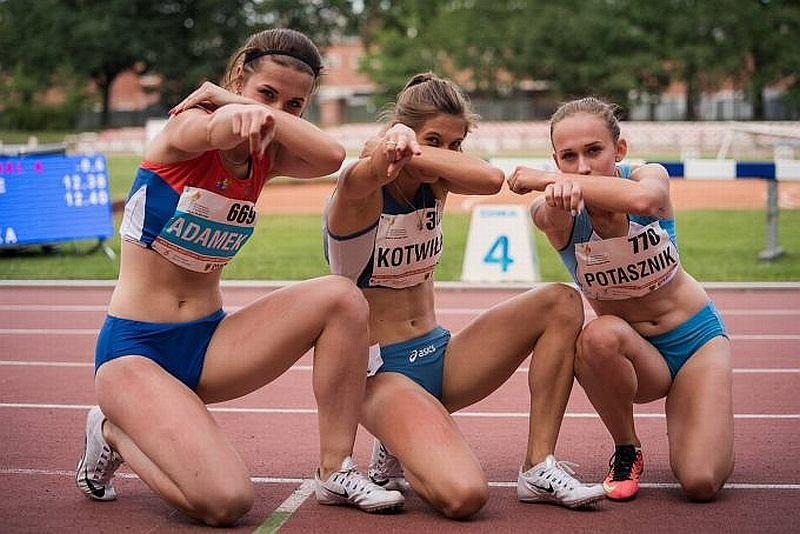 lekkoatletyka, Martyna Kotwiła (RLTL ZTE Radom, w środku)
