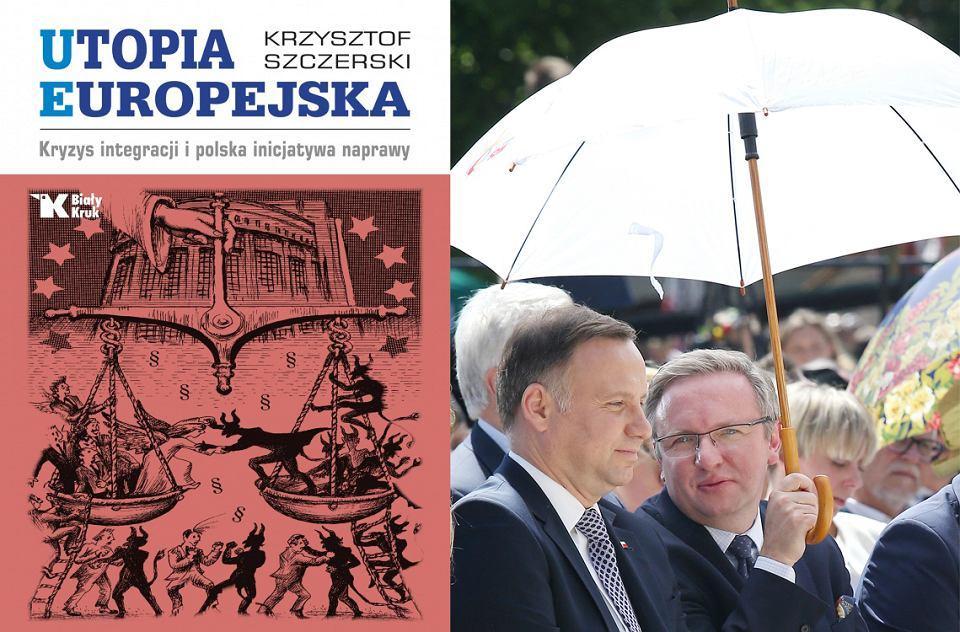 Prezydent Andrzej Duda i Krzysztof Szczerski podczas procesji ku czci św. Stanisława z Wawelu na Skałkę, Kraków 13.05.2018.