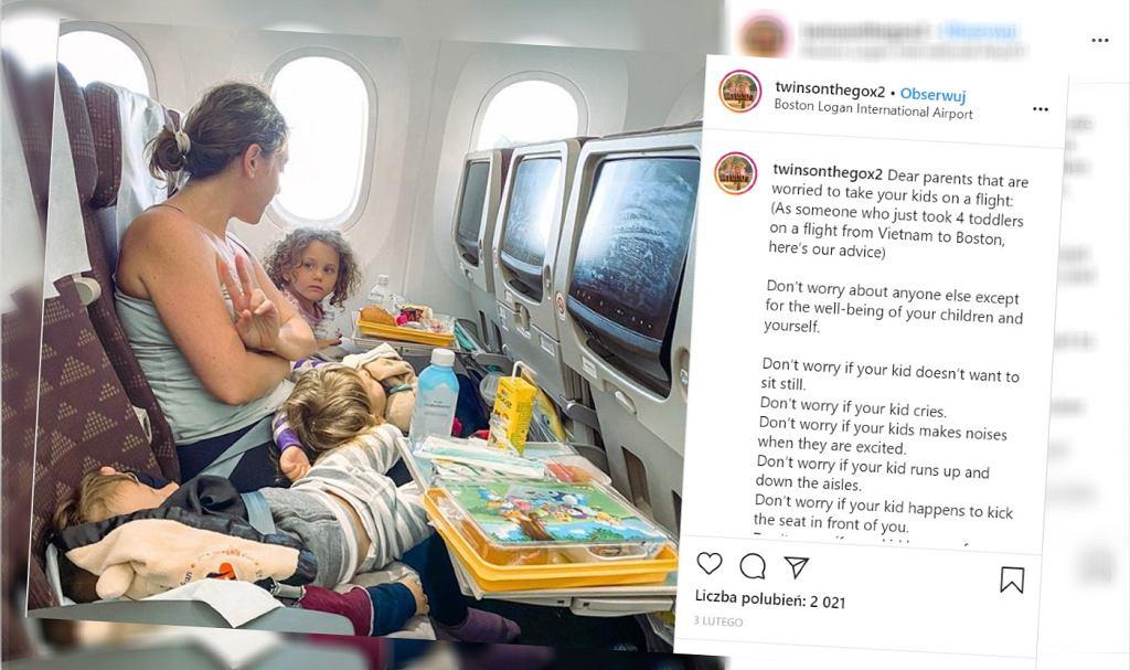 Mama apeluje do rodziców, aby nie przejmowali się podczas podróży z dzieckiem
