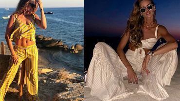 Anna Lewandowska i Izabel Goulart razem na plaży