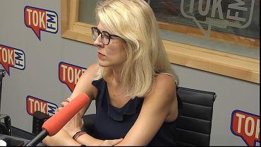 Renata Grochal w studiu TOK FM.