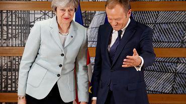 Brytyjska premier Theresa May i szef Rady Europejskiej Donald Tusk