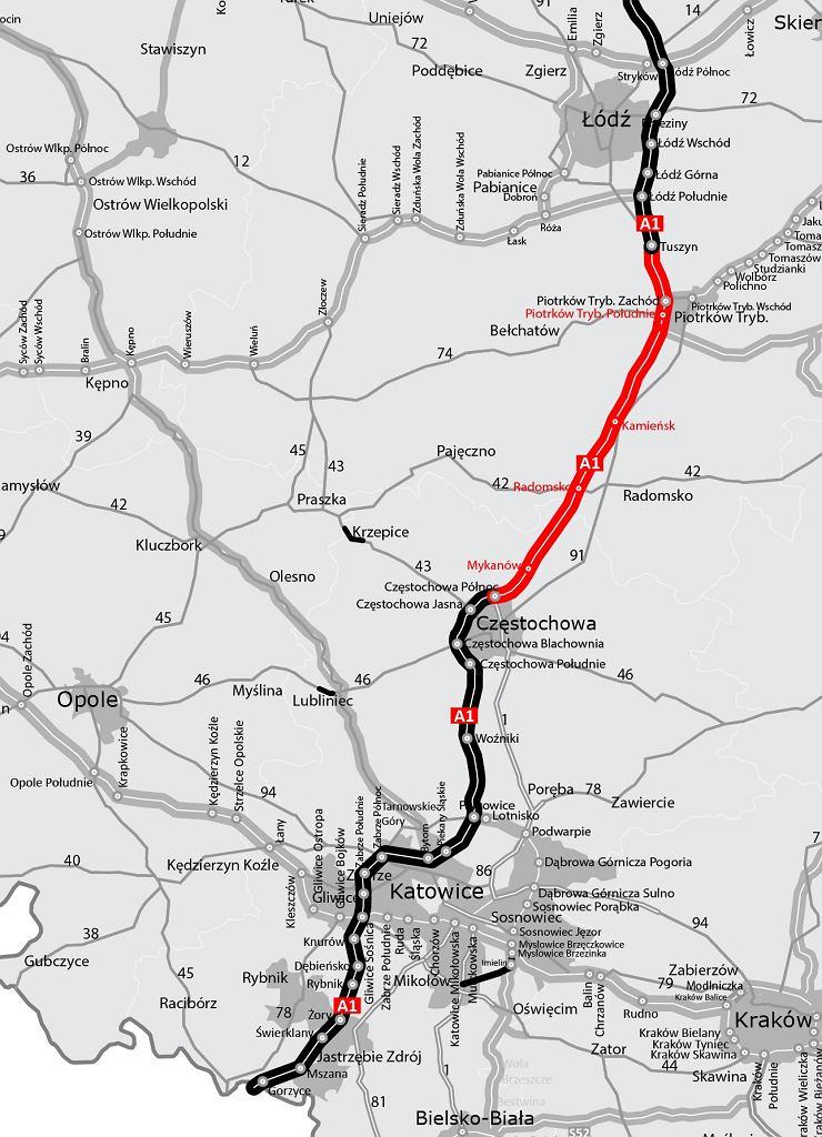 Aktualna mapa A1