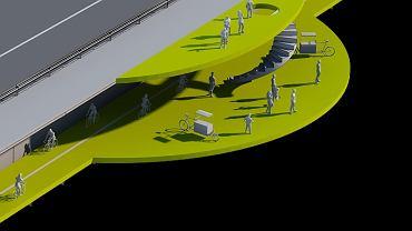 Projekt tarasu widokowego, który młodzi architekci przedstawili kilka dni temu. Bezpieczeństwo użytkowników zapewniałaby specjalna siatka