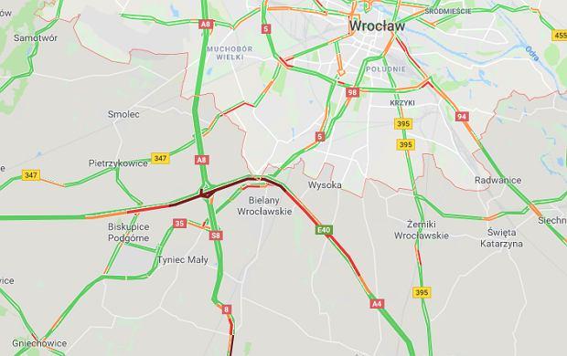 Wypadki na autostradzie A4 w pobliżu Wrocławia