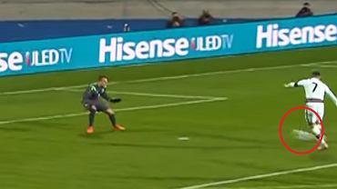 Cristiano Ronaldo w meczu z Luksemburgiem