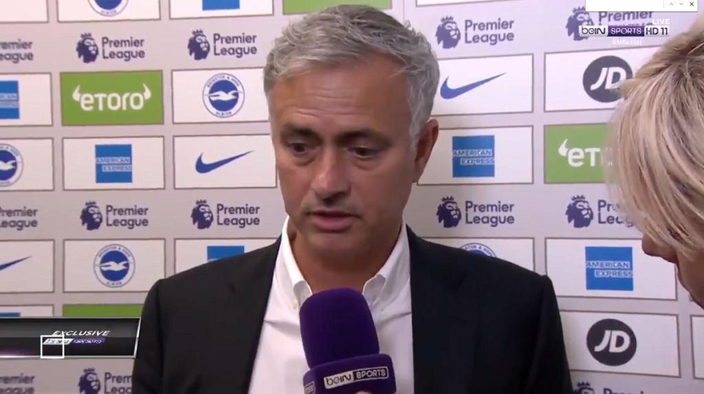 Nerwowa reakcja Jose Mourinho po meczu Manchesteru United z Brighton