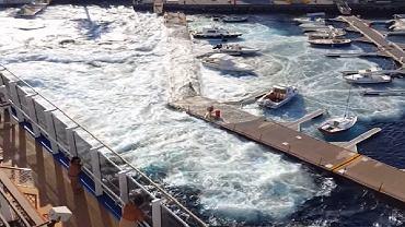 Oto, co się dzieje, gdy wielki statek przepłynie za blisko. Straty na 1 mln zł, jachty znikały pod wodą