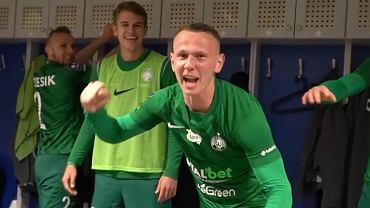 Radość piłkarzy Warty po zwycięstwie z Wisłą