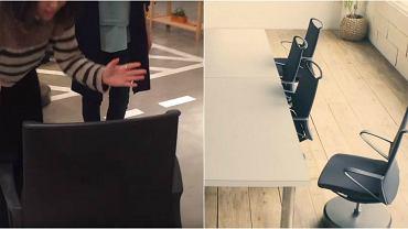 Krzesła biurowe z inteligentnym systemem parkowania
