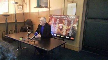 Prezydent Christian Perdrier komentujący decyzję o odwołaniu Nimes
