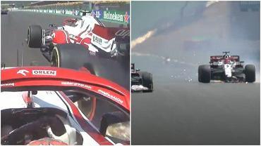 Kolizja pomiędzy kierowcami Alfy Romeo Racing ORLEN podczas GP Portugalii
