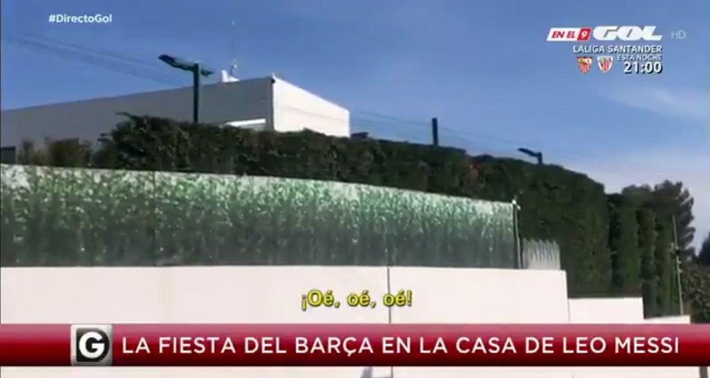 Leo Messi zorganizował imprezę dla całego zespołu Barcelony w swoim domu