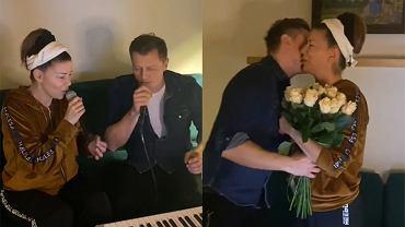 """Rafał Brzozowski spędził majówkę w górskim domku Edyty Górniak. Zaskoczył artystkę prezentem. """"Chyba nigdy tego nie zapomnę"""""""