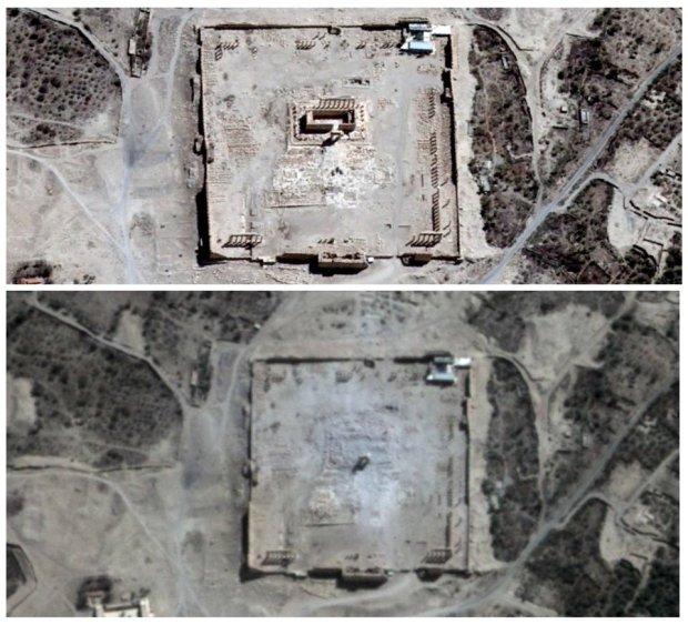 Zdjęcie numer 0 w galerii - Nie ma już starożytnej świątyni w Palmyrze. Na zdjęciach satelitarnych tylko gruz