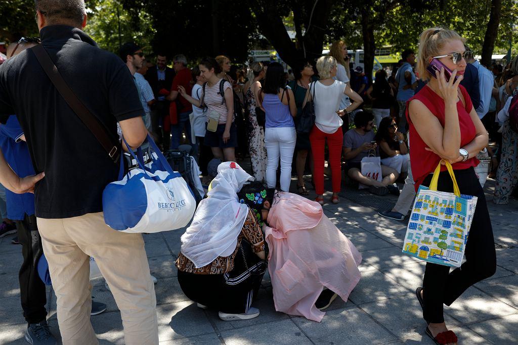 Grecja. Trzęsienie ziemi. Ludzie w Atenach zostali ewakuowani z części budynków