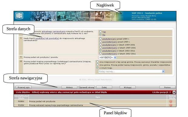 Fragment instrukcji obsługi Samospis Internetowy