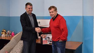 Artur Błasiński (z lewej), trener RLTL ZTE Radom
