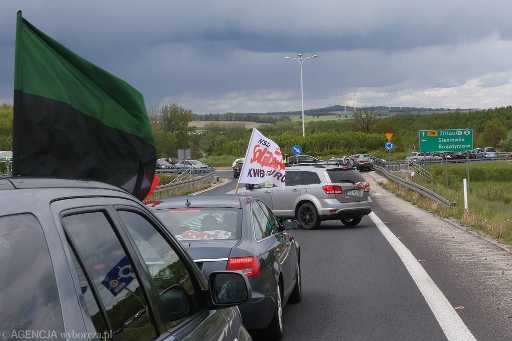 Bogatynia. Kolejny dzień protestów przeciwko decyzji TSUE ws. kopalni w Turowie