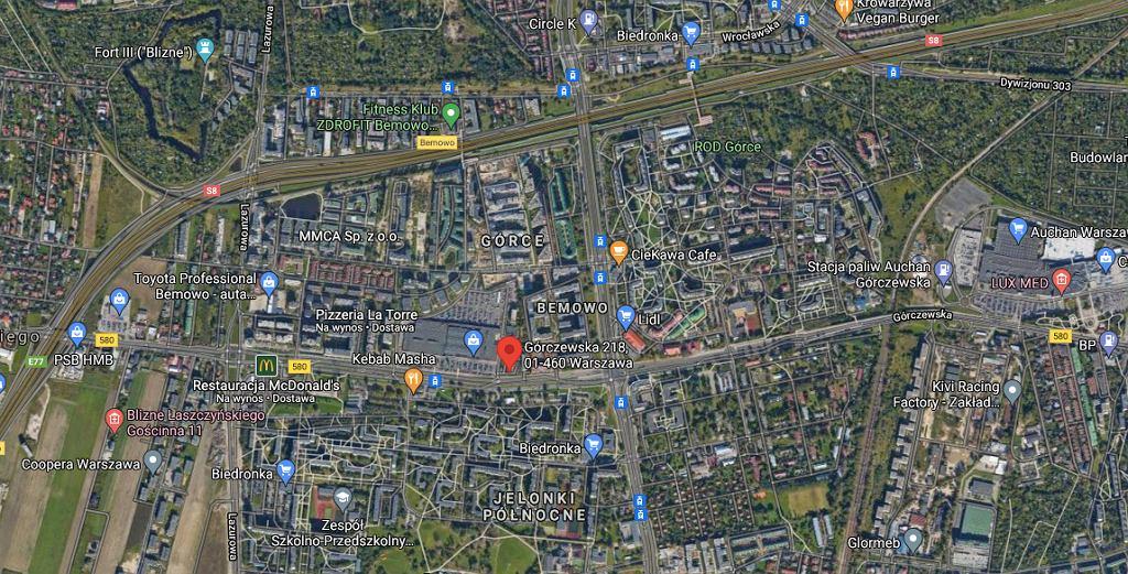 Zawalił się sufit w galerii handlowej przy ul. Górczewskiej 218