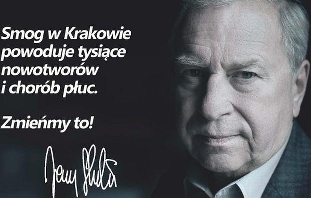 Jerzy Stuhr bierze udział w akcji '94% krakowian mówi: zmieńmy to!'