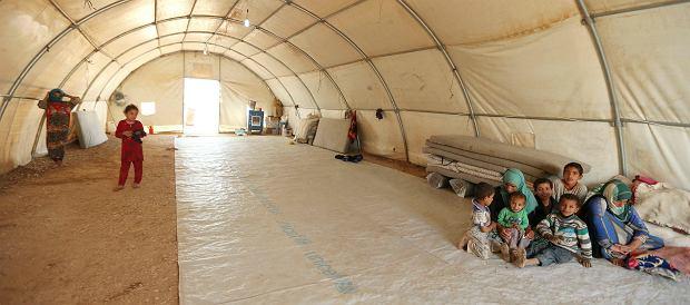 Uchodźcy z Mosulu w obozie
