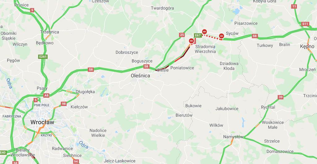 Tragiczny wypadek na S8 w okolicach węzła Szczodrów
