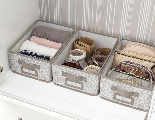 Materiałowe pudełka ozdobne