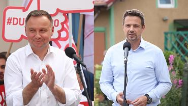 """Rafał Trzaskowski i Andrzej Duda """"łeb w łeb"""". Ponad 10 proc. niezdecydowanych [SONDAŻ]"""