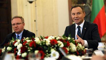 `Spotkanie z prezydium Zgromadzenia Parlamentarnego Polski, Litwy i Ukrainy w Palacu Prezydenckim