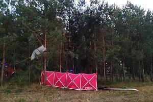 Awionetka rozbiła się pod Mińskiem Mazowieckim. Pilot nie żyje