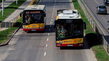 Autobusy kieleckiego MPK na ulicy Źródłowej
