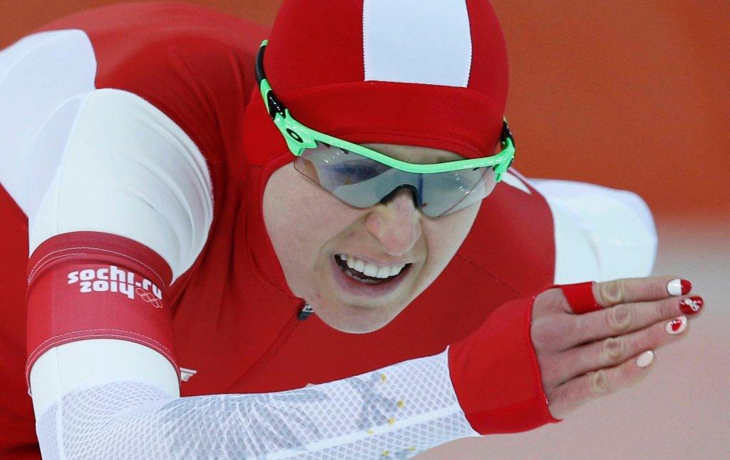 Natalia Czerwonka w wyścigu na 1500 metrów w Soczi