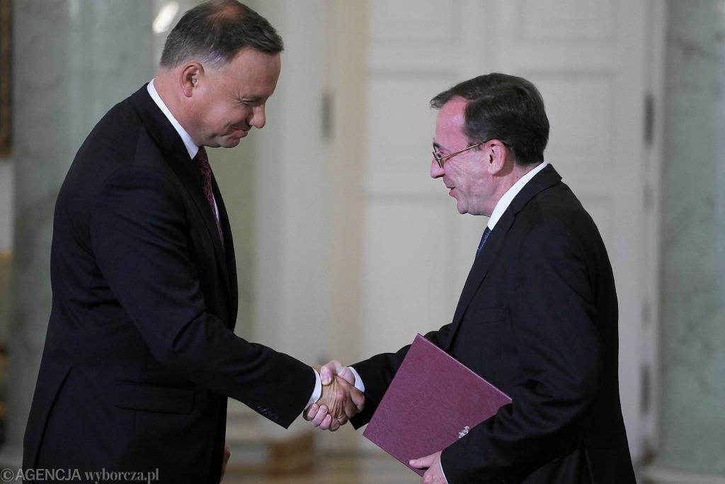 Mariusz Kamiński i Andrzej Duda