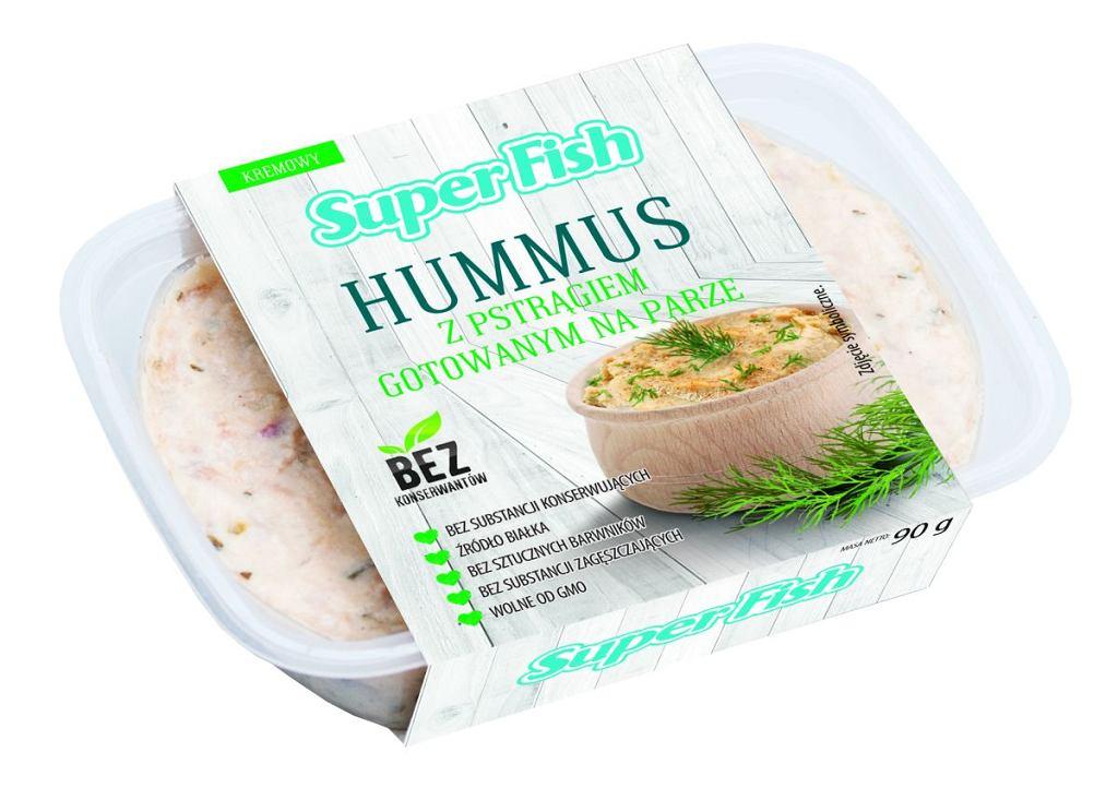 SuperFish - Hummus z pstrągiem gotowanym na parze