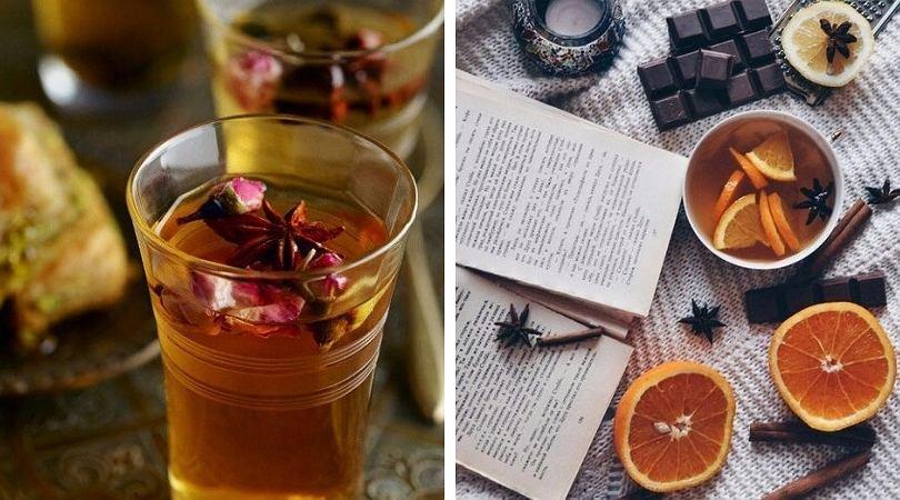 Zimą najlepiej pić herbatę z dodatkami wspomagającymi odporność.