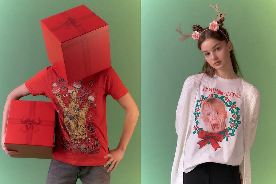 W świątecznej kolekcji Cropp znajdziesz T-shirt z kultowej produkcji 'Home Alone'