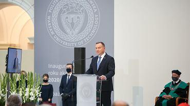 Andrzej Duda na Uniwersytecie Warszawskim