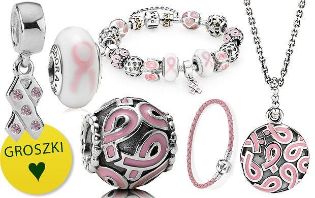 Biżuteria Pandora biorąca udział w akcji
