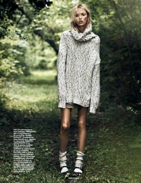 Anja Rubik dla 'Vogue', Into the wild