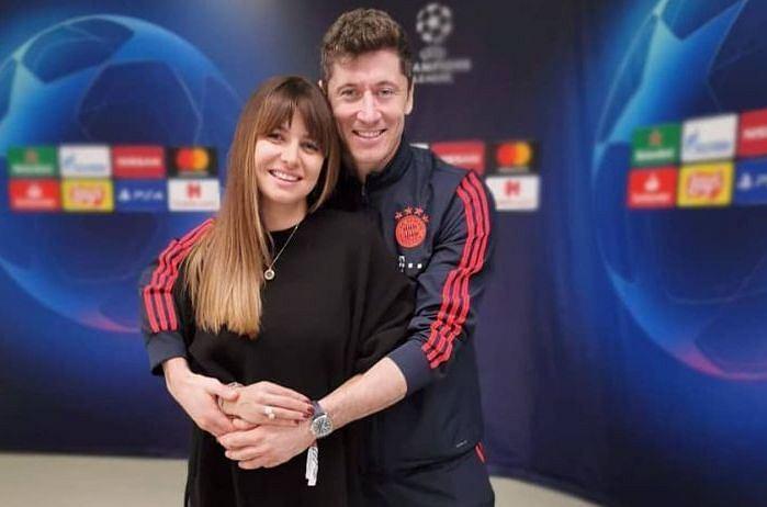 Szczęśliwi Anna i Robert Lewandowscy