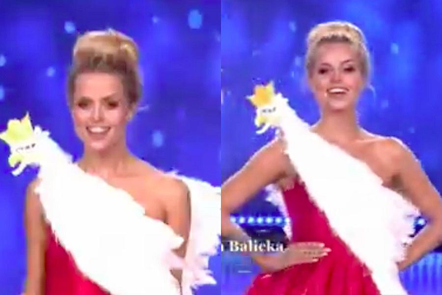 Internauci kpią z sukni z orłem Natalii Balickiej na Miss Supranational.