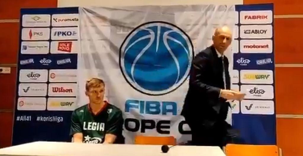 Trener koszykarskiej Legii chciał opuścić konferencję prasową