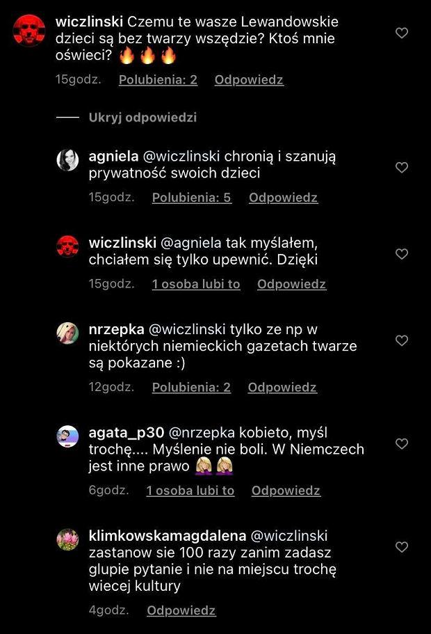 Fan zadał Lewandowskiej pytanie