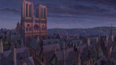 Kadr z animowanego filmu Dzwonnik z Notre Dame