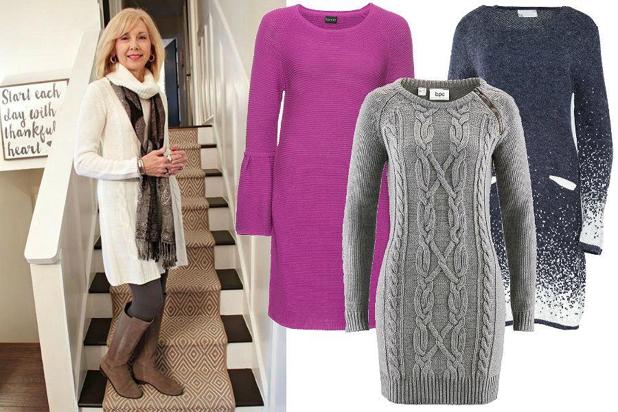 Sukienki swetrowe dla dojrzałych kobiet