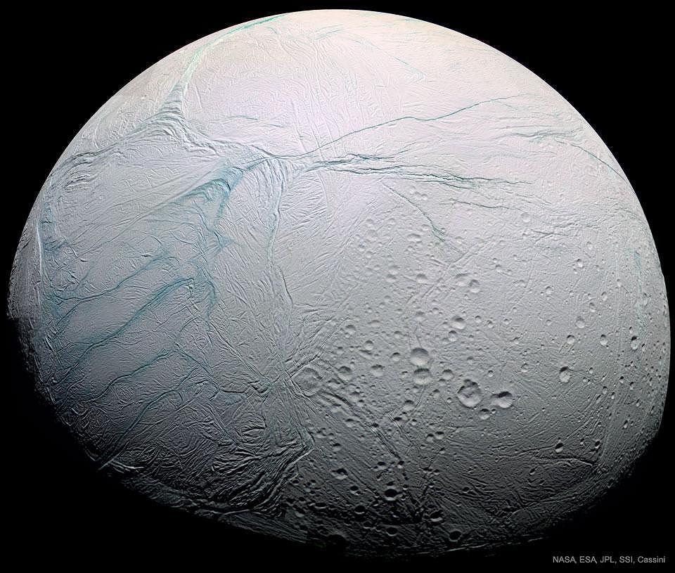 Enceladus, księżyc Saturna